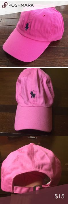 Cute pink polo pony cap Unbranded pony cap! Really cute and stylish and have the polo symbol on the front !  I tried it on and it's been washed ! It's EUC!!! Open to offers !!! Cute for spring and summer!  Tags: polo Ralph Lauren Tommy Hilfiger nautica nasty gal fashion nova Polo by Ralph Lauren Accessories Hats