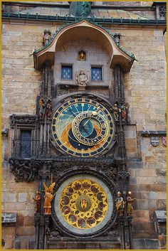 Prague.  The astronomical Clock.  Very neat to watch when it strikes the hour.  Visited here in 2006.