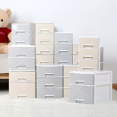 Multi-layer Desktop Drawer Storage Box Office Paper File Container Home Toy Cloth Underwear Socks Storage Boxes Sundries Case Sock Storage, Storage Drawers, Storage Boxes, Desktop Drawers, Desktop Storage, Office Paper, A 17, Filing Cabinet, Underwear