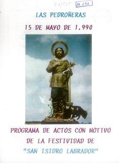 """Fiesta de """"San Isidro Labrador"""" en Las Pedroñeras (Cuenca). 15 de mayo de 1990. #Fiestaspopulares #LasPedroñeras #Cuenca"""