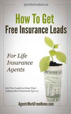 For INSURANCE Agents. How To Get Free Exclusive Insurance Leads to grow your Agency.