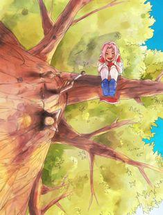 - <- Don't like her but this pic is cute Naruto Team 7, Naruto And Sasuke, Naruto Fan Art, Naruto Girls, Sakura And Sasuke, Naruto Shippuden Anime, Sakura Haruno, Sakura Sakura, Otaku Anime