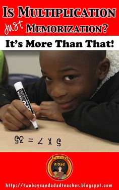 Teaching multiplication is just more than memorizing the multiplication facts.  The Common Core Standards for math in Grade 3 state that students must understand the Properties of Multiplication, the relationship between addition and multiplication, use m