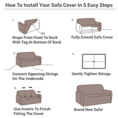 Solid Sofa Cover – The Couch Rescue Inexpensive Home Decor, Easy Home Decor, Home Decor Kitchen, Home Decor Styles, Sectional Covers, Couch Covers, Sectional Sofa, Furniture Covers, Furniture Makeover