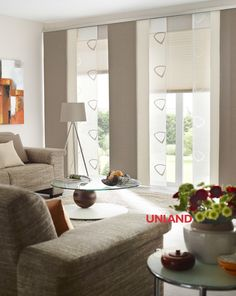 Unland Urbansteel, Fensterideen, Vorhang, Gardinen und Sonnenschutz - curtains, contract fabrics, pleated blinds, roller blinds and more. Made in Germany