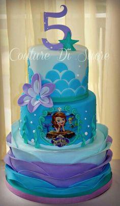 New Birthday Cake Princess Sofia Little Mermaids Ideas Sofia The First Birthday Cake, 4th Birthday Cakes, Birthday Ideas, Little Mermaid Cakes, Mermaid Birthday Cakes, Sirenita Cake, Cupcakes Princesas, Disney Cakes, Girl Cakes