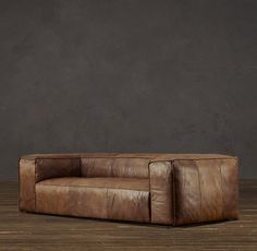 Fulham Leather Sofa - seriously my dream couch. I NEED this.