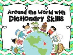 Around the World with Dictionary Skills Dictionary Entry, Dictionary Skills, Free Dictionary, 2nd Grade Ela, Third Grade, Grade 3, Improve Vocabulary, Vocabulary Words, Spelling And Handwriting