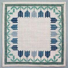 Duk @ DigitaltMuseum.se Needlework, Floral Design, Cross Stitch, Colorful, Embroidery, Retro, Rugs, Flower, Crafts
