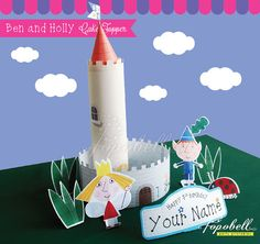 Ben and Holly Cake Topper for Ben and Holly's Little by Popobell