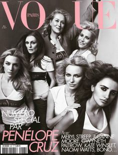Great actresses in Vogue cover..