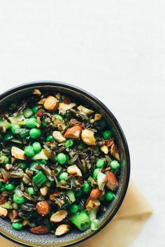 nutty wild rice salad with vegan option (veg stock, sugar/agave) | the vanilla bean blog