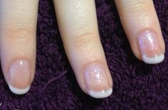 Shellac French Polish with Silver VIP