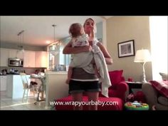 ▶ Nursing in a Coolest Hip Cross Carry from Wrap Your Baby - YouTube