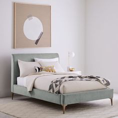 West Elm offers modern furniture and home decor featuring inspiring designs and colors. Create a stylish space with home accessories from West Elm. Upholstered Sleigh Bed, Upholstered Storage, Bed, Reclaimed Wood Beds, Mid Century Bed, Contemporary Bed, Upholstered Beds, Bed Furniture, West Elm Bedding