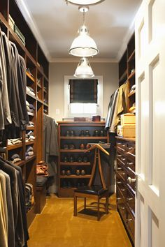 If we have seperate closets, I like the idea of doing his in dark wood and masculine colors and fixtures, and making mine light and airy and girly.