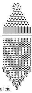 Si realizza prima la parte superiore e poi quella con le frange                MATERIALE:   rocailles in più colori  buggle   monachelle   ...