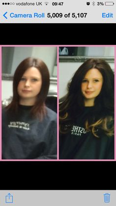 Beautiful 18 inch balyage effect using beautyworks hair extensions
