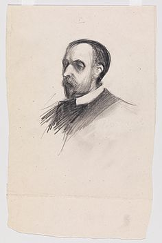 Edward Hopper (1882–1967), Portrait of Artist's Father [Garret Henry Hopper] (1903)