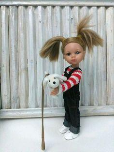 Купить Комплект для Паолы. - комбинезон, одежда для кукол, полоска, джинсовый стиль, паола рейна