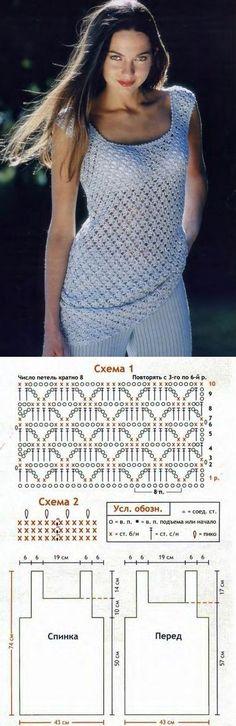 Túnica de malha malha crochet.  gancho bela túnica de malha |  Todos os bordados; o esquema, master classes, ideias labhousehold.com local