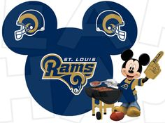 St. Louis Rams football with Mickey Mouse INSTANT DOWNLOAD digital clip art image :: My Heart Has Ears
