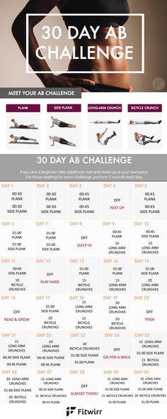 [ Pinterest : Ndeye Ndiaye ] Challenge de 30 jours pour vous faire des abdos !