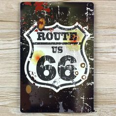 New 2015 about route US 66 metal tin signs wall metal art craft metal painting home decor for bar and coffee 20x30cm SP-66-037