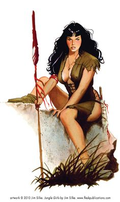 Jungle Girl resembling Bettie Page