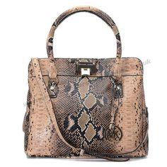 Michael Kors Hamilton Snakeskin Handbag