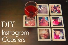 Little Miss Mama: DIY Instagram Coasters, Instagram, Custom Coasters, DIY Coasters