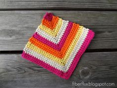 Rainbow Sherbet Dishcloth...Free Crochet Pattern