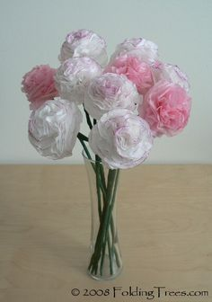 Tissue paper flowers crafts for kids