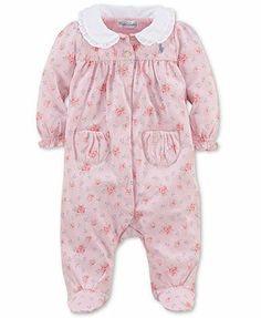 "I think I just found her ""Take Home outfit""........Ralph Lauren Baby Coverall, Baby Girls Floral Jumpsuit"