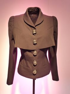 Elsa Schiaparelli double layer jacket.  Wonderful buttons!