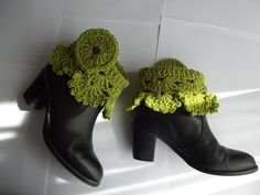 Custom Order  La LUNA  Crochet Boot Cuffs / by BilgesCreation. , via Etsy.