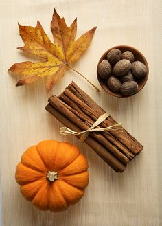 A perfect autumn still life. Artist unknown.