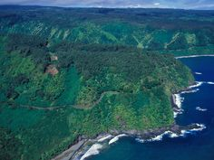 The best coastal drives in the world  ROAD TO HANA, MAUI, HAWAII Not included in the brochure: The road is daunting and takes three hours to travel, at least. From the sky, it looks like Hana Highway was carved into Maui by a giant—running his finger along the island's curves like it's icing on a cake.