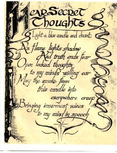 Printable Book Of Shadows Pages | Image - HearSecretThoughts.jpg - Charmed Wiki - For all your Charmed ...