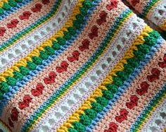 Häkeln Sie Muster Polka-Dot-Decke Muster Nr. 061 von ZoomYummy