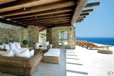 This vacation home on the southwest coast of Mykonos was built for an Athenian businessman and his family who entertain often, so architect Javier Barba made sure to include a spacious outdoor living area   archdigest.com
