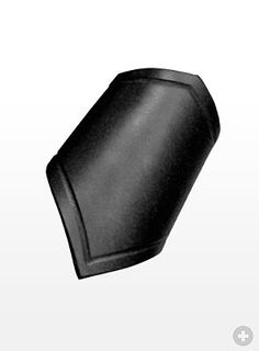 Leather Forearm Band black - High quality leather products from Andracor, handcrafted in Berlin - maskworld.com