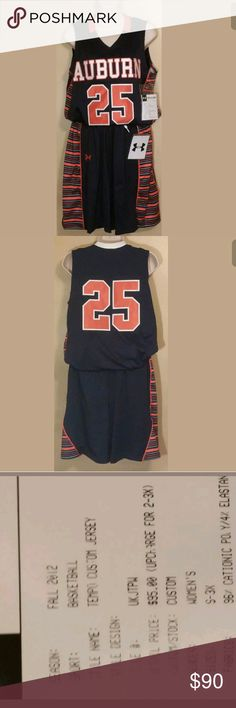 Womens Auburn Tigers Large Basketball Uniform Womens Auburn Tigers Large Basketball Jersey/Shorts #25 Under Armour NCAA $190  Brand new Under Armour Other