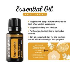 Spotlight on Zendocrine essential oil blend #detox #cleanse