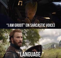 "I think ""I am Groot"" translates to ""fuck you"" in this situation"