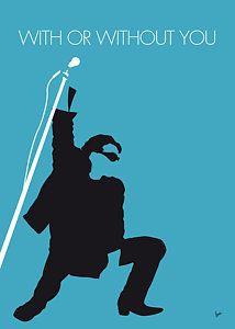 Digital Art - No035 My U2 Minimal Music Poster by Chungkong Art