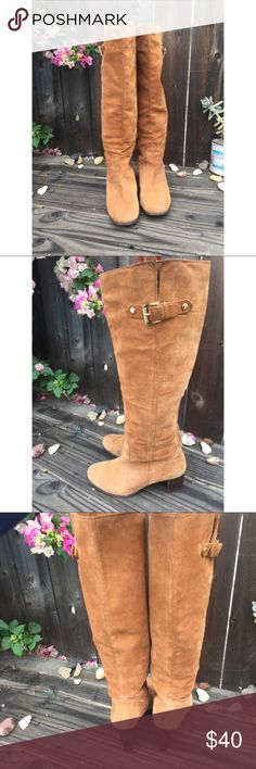 ea883369bd9 Spotted while shopping on Poshmark  MICHAEL KORS BROWN TALL SUEDE BOOTS SZ  10!  poshmark  fashion  shopping  style  Michael Kors  Shoes