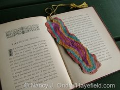 Bookmark made from handmade paper (painted with watercolors)
