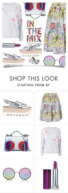 """In the mix we trust"" by alaria ❤ liked on Polyvore featuring Premiata, Moschino, Fendi, Chinti and Parker, Sunday Somewhere, Maybelline, Bobbi Brown Cosmetics and patternmixing"