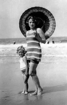 Marlene Dietrich and daughter, Maria